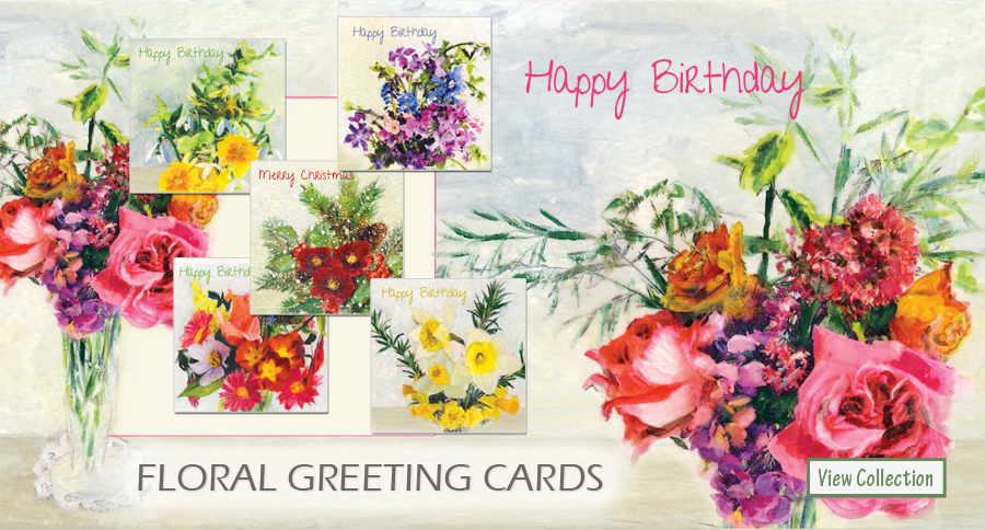 A Year in Flowers Greeting Cards