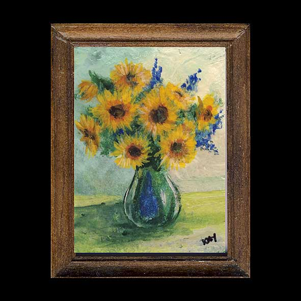 Sunflowers In A Glass Vase Painting Kay Burton Artist